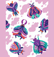 moth insects seamless pattern vector image
