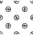 no potato beetle sign pattern seamless black vector image vector image