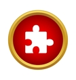 One puzzle icon simple style vector image vector image