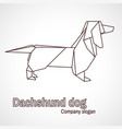 origami dog dachshund vector image vector image