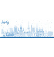 outline leipzig germany city skyline with blue vector image vector image