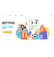 people bet using app sport event live broadcast vector image