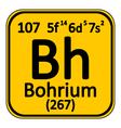 Periodic table element bohrium icon vector image vector image