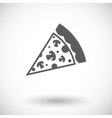 Pizza flat icon vector image vector image