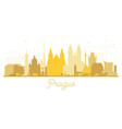prague czech republic city skyline silhouette vector image