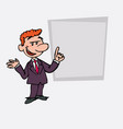red hair businessman relaxed speak content is vector image vector image
