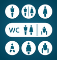 Restroom male female pregnant cripple and baby vector image vector image