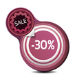 Sale Tag with texture vector image
