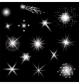Set of Different White Lights vector image vector image