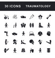 set simple icons traumatology vector image vector image