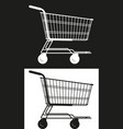 simple market cart vector image vector image