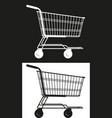 simple market cart vector image