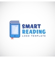Smart or Mobile Reading Abstract Logo vector image
