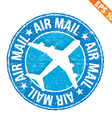 Stamp sticker Air mail collection - - EPS10 vector image