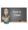 Studen And Blackboard vector image