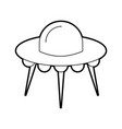 ufo flying saucer technology science transport vector image
