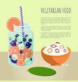 vegetarian food poster detox diet concept vector image vector image