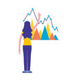 woman with business report statistics vector image