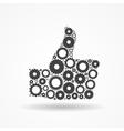 Gear Icon Success Symbol vector image