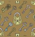 key vintage old sketch retro lock vector image