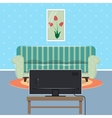 Modern Apartment Interior with Sofa and TV set vector image