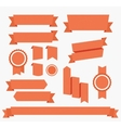 Red ribbons set Elements isolated vector image