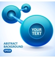 Abstract background with blue balls vector image