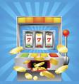 slot fruit machine winning vector image