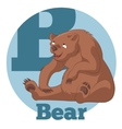 ABC Cartoon Bear3 vector image vector image