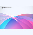 abstract colorful curved overlapping and light vector image
