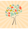 Abstract Retro Tree vector image vector image