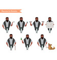 african american boy character for your scenes vector image vector image