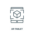 augmented reality tablet icon monochrome style vector image vector image