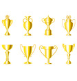 award cups vector image vector image