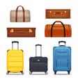 baggage colored set vector image