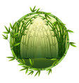 bamboo trees in frame nature vector image vector image