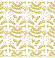 beautiful leaves pattern background vector image vector image