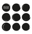Black abstract circles set from thick black vector image