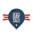 Blue striped Presidents Day Sale Label with Ribbon vector image