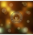 Blurred brown background vector image vector image