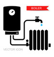 boiler icons symbol heating equipment vector image vector image