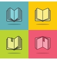 Book icons with shadow vector image vector image