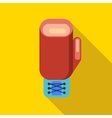 Boxing gloves icon flat style vector image vector image