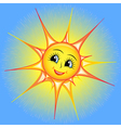 bright cartoon of a smiling sun i vector image vector image