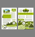 brochure for green landscape eco design vector image vector image