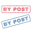 by post textile stamps vector image vector image