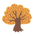 cartoon tree in autumn child of a vector image
