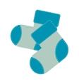 child sock icon image vector image