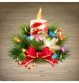 Christmas candle EPS 10 vector image vector image