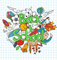 Colorful sketch Back to School Background vector image